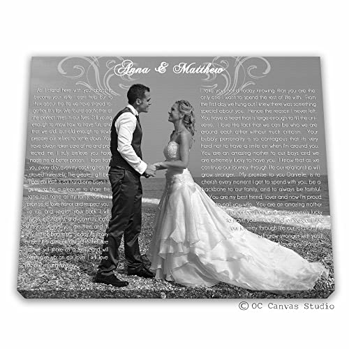 Amazoncom First Dance Lyrics Custom Vows Print Wedding Vows