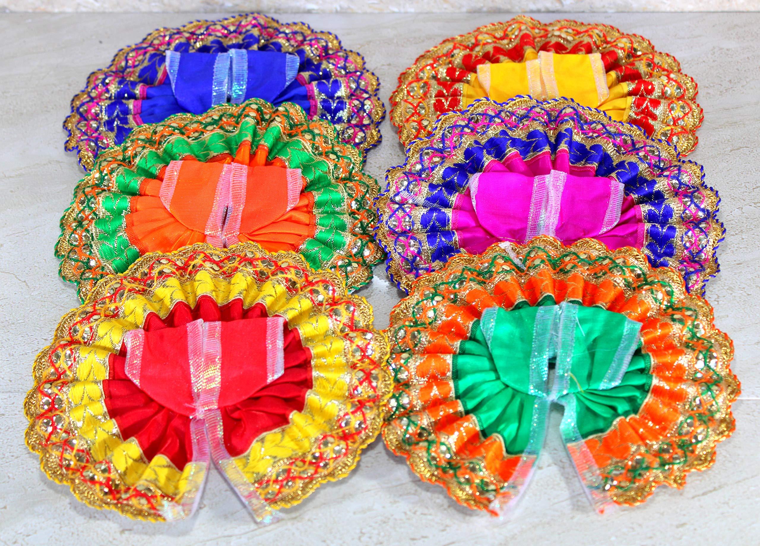 eSplanade Ladoo Gopal Poshak | God Dress | Bhagwaan Ki Poshaak | Dev Vastra - (Set of 6) Laddu Gopal Idols (2)