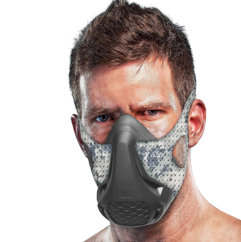 TEC Workout Oxygen Mask - 16 Breathing Levels, Gain Benefits of High Altitude Elevation Training for Running, Biking, Cardio, Sports; Increases Strength, Endurance, Stamina [+ Free Bonus Carry Case]
