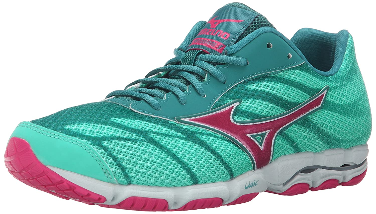Mizuno Women's Wave Hitogami 3 Running Shoe B010TVNQ1E 7.5 B(M) US|Malibu Blue/Fuchsia Purple