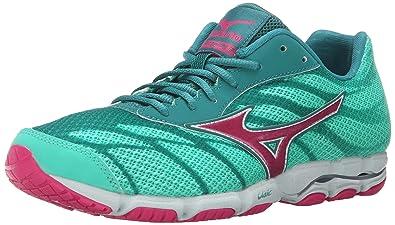 Mizuno Women's Wave Hitogami 3 Running Shoe, Malibu Blue/Fuchsia Purple, ...