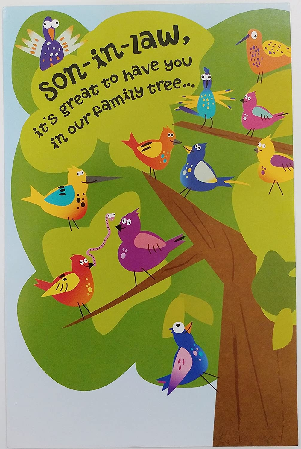 Amazon Happy Birthday Son In Law Great To Have You Our Family Tree Cute Sweet Funny Humor Greeting Card Office Products
