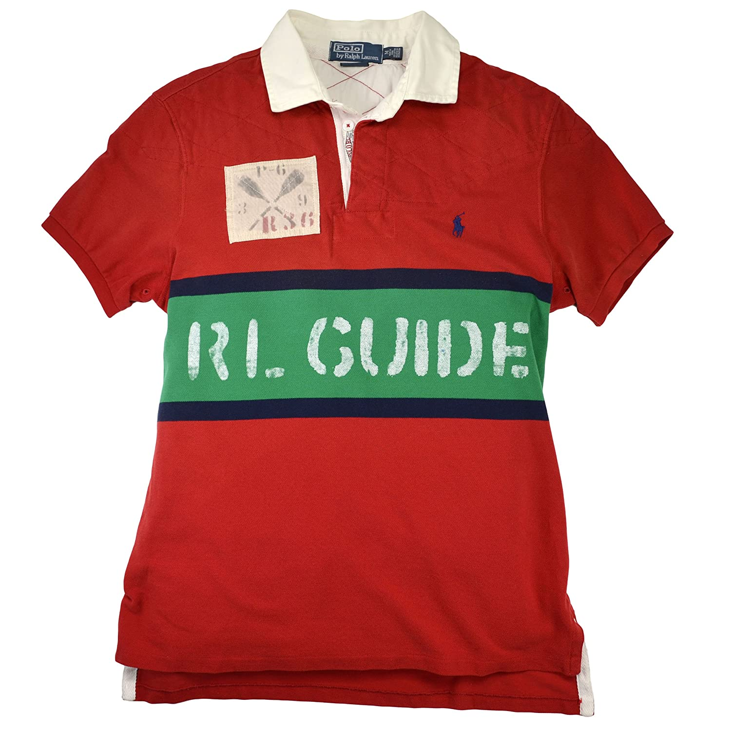 d39ffd47 Polo Ralph Lauren Men's Custom Fit Short Sleeve RL Guide Polo Shirt (Small,  Red) at Amazon Men s Clothing store: