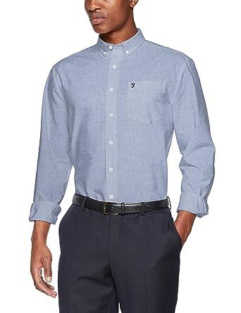 Farah Mens Long Sleeved Oxford Shirts Drayton Amazon Co Uk Clothing