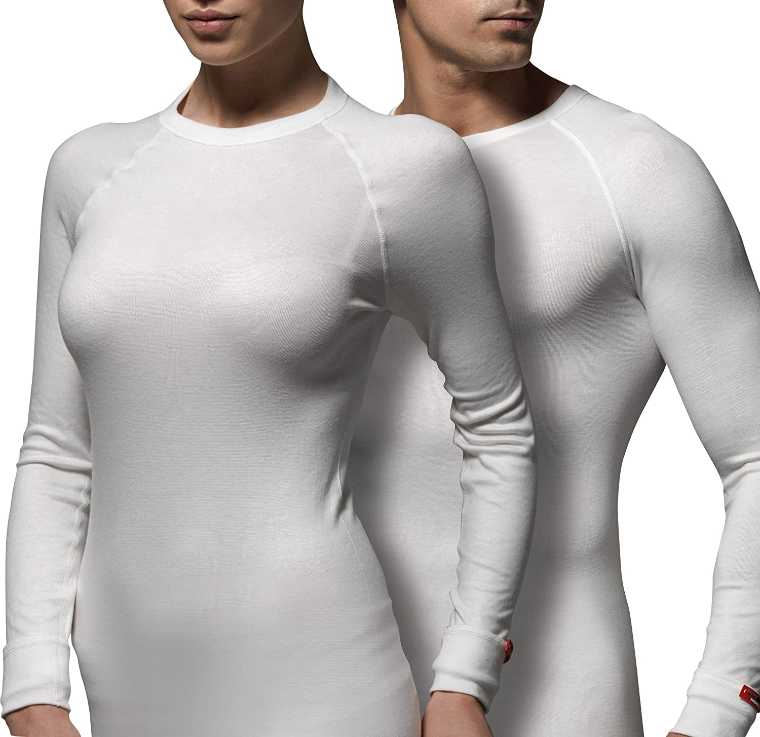 Blackspade Warm Winter Thermal Active Unisex T-Shirt with Long Sleeves White