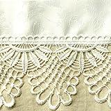 【 高品質・多彩カラー 】WhiteLeaf アップライトピアノ カバー ジャガード織 ケミカルレース おしゃれ 高級 85cm×200cm (ホワイト)