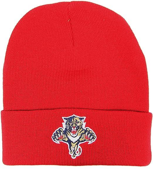 Amazon.com  MITCHELL   NESS Florida Panthers Cuff Knit Winter Hat ... 7967fc42c12
