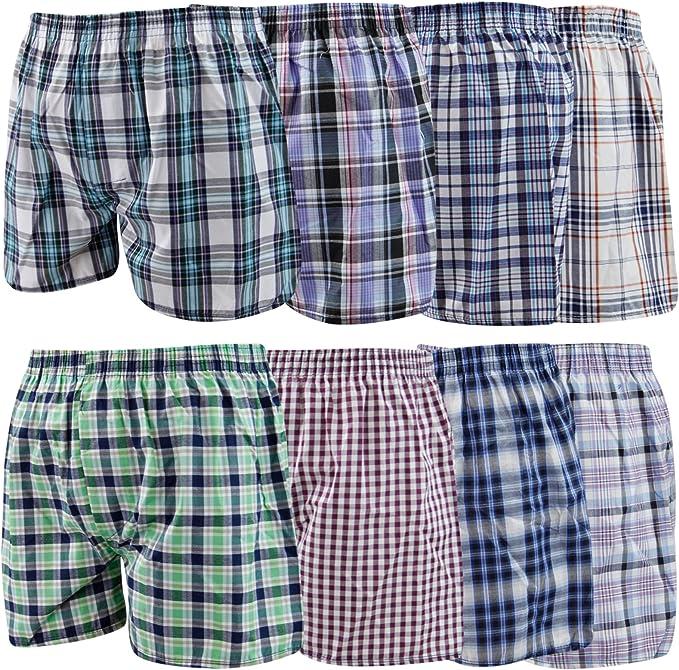 Mens 2-Pack Boxer Briefs Polyester Underwear Trunk Underwear with Traditional Tartan Design