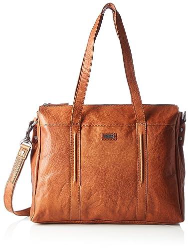 Spikes&Sparrow Zip Bag, Sacs menotte femme, Braun (Dark Brown), 9x23x26 cm (B x H T)