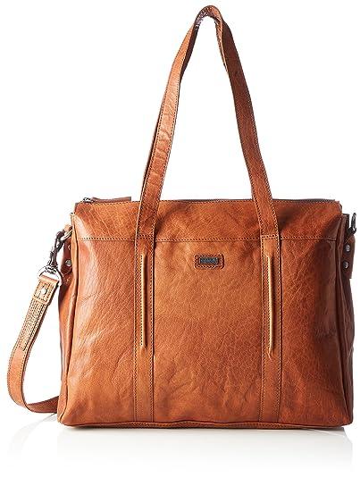 Spikes & Sparrow Damen Zip Bag Handgelenkstasche, 9x23x26 cm