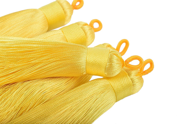 Handmade Imitation Silk Tassels with Hanging Loop for Jewelry Making 8.5cm KONMAY 10pcs 3.4 Aqua