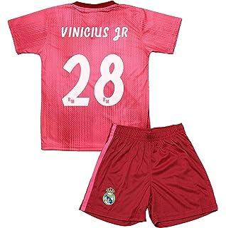 Real Madrid Kit Tercera Equipación Infantil Vinicius Junior Producto  Oficial Licenciado Temporada 2018-2019 c90ccac03103b