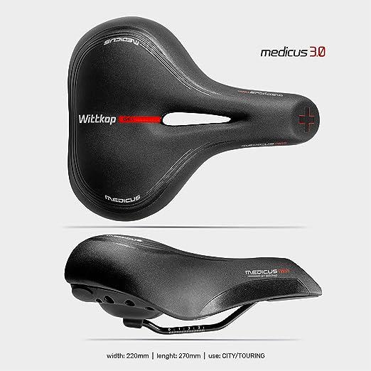Büchel Bicicleta sillín Wittkop Twin Medicus 3.0 City, Negro, One ...