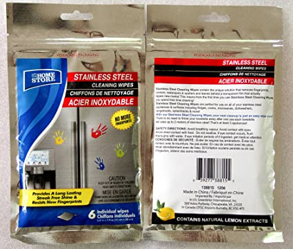 HOME STORE toallitas limpiadoras paños para limpiar acero inoxidable, 2 unidades - 2 x (