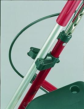 Soporte para bastón para andador y silla Fijación en 22 mm Tubos, para bastón con D=15 – 20 mm