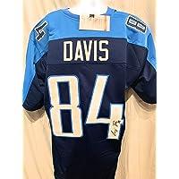 Corey Davis Tennessee Titans Signed Autograph Custom Jersey JSA Witnessed Certified photo