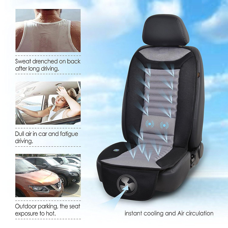 Amazon.com: SNAILAX Cooling Car Seat Cushion with Massage, Car Seat ...