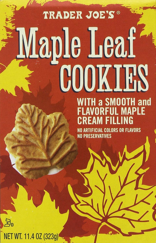 amazon com trader joe u0027s maple leaf cookies net wt 11 4oz 323g