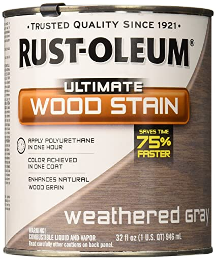 Attractive RUST OLEUM 271130 Quart Weathered Grey Interior Wood Stain