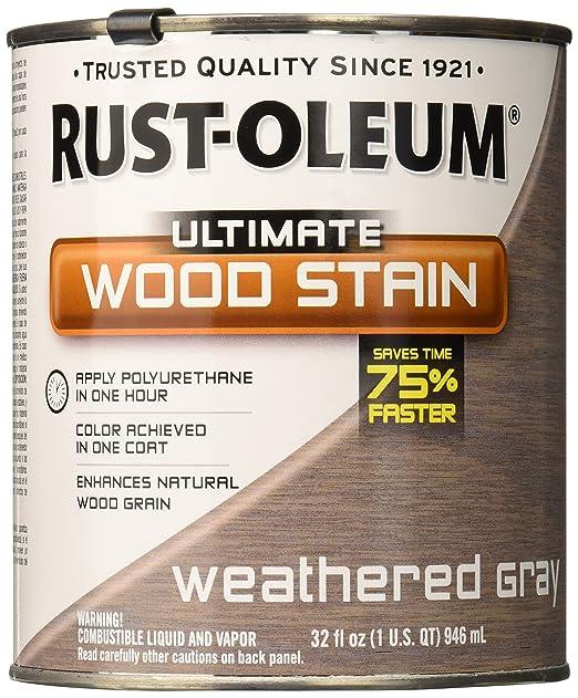 RUST OLEUM 271130 Quart Weathered Grey Interior Wood Stain