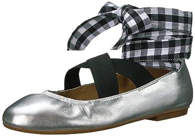 d6744cd7587 Amazon.com  The Fix Women s Singh Elastic Strap Lace-up Ankle Ballet ...
