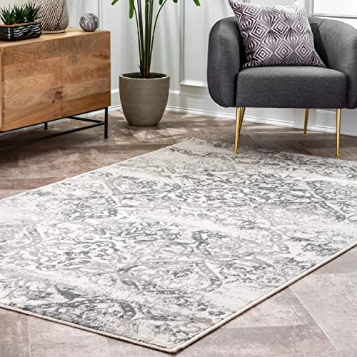nuLOOM Freja Distressed Area Rug, 5 x 8 , Grey