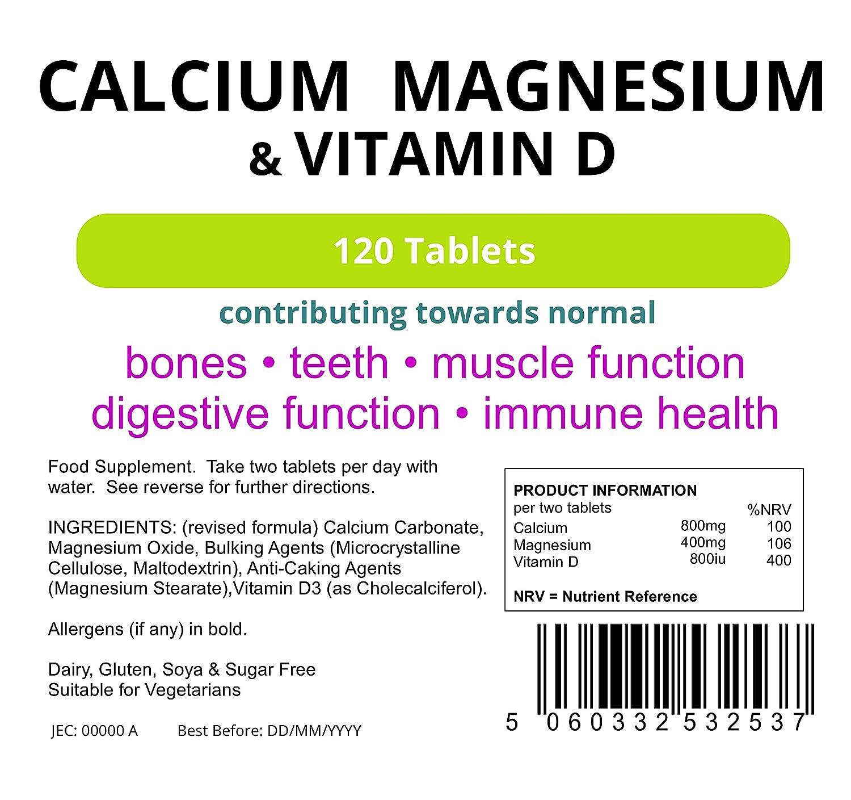 Amazon.com: Lindens Calcium Magnesium & Vitamin D 120 Tablets; Osteo Formula - Bone Health: Health & Personal Care
