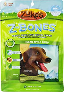 product image for Zuke's Z-Bones Edible Grain-Free Dental Chews, Clean Apple Crisp, 8.25 Ounce