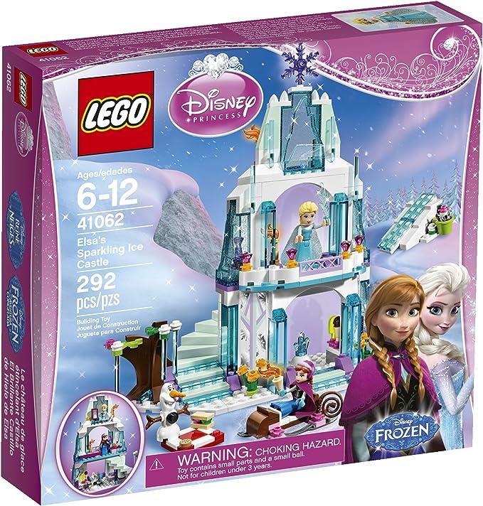Amazon.com: טירת הקרח המנצנצנצת של הנסיכה אלזה של לגו 41062: Toys & Games