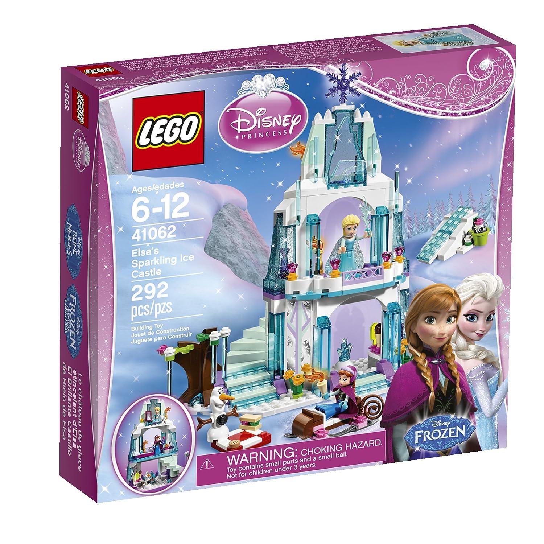Amazon.com: LEGO Disney Princess Elsa\'s Sparkling Ice Castle 41062 ...