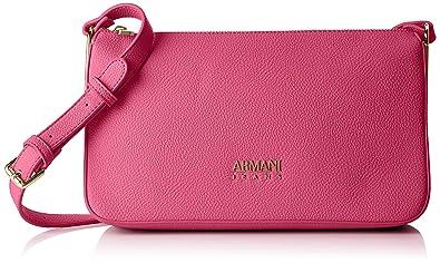7da3ce2a5163 Armani Jeans Borsa Tracolla, Sacs baguette femme, Pink (Fuchsia), 17x8x28 cm