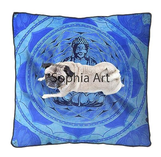 Sophia Art - Funda de cojín para Suelo Indio con diseño de ...