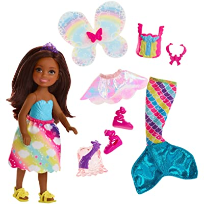 Barbie Dreamtopia Rainbow Cove Chelsea Doll And Fashions Set, Brunette: Toys & Games