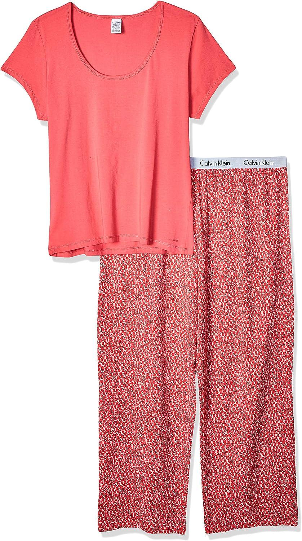 Calvin Klein Para Mujer Juego de Pijama - Rosado -: Amazon.es ...
