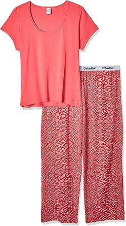 Calvin Klein Para Mujer Juego de Pijama - Rosado -: Amazon ...
