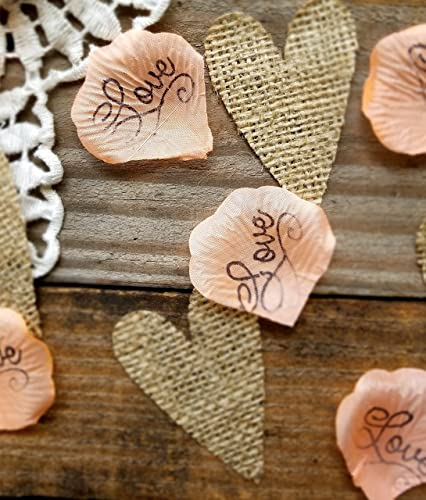 Amazon rustic wedding decor coral burlap confetti table rustic wedding decor coral burlap confetti table confetti for wedding bridal or baby shower junglespirit Image collections