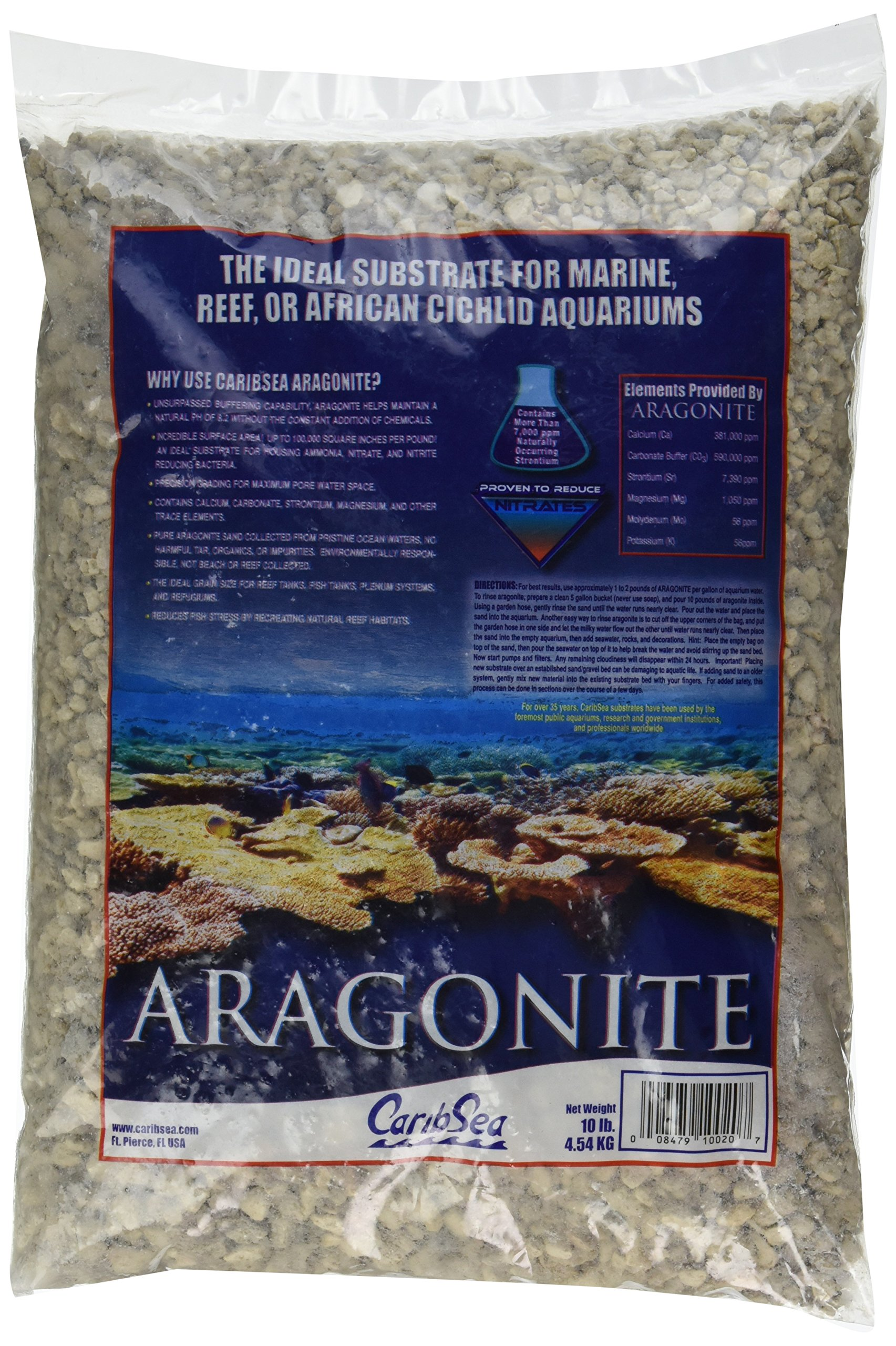 Carib Sea ACS00110 Crushed Coral For Aquarium 10 Pound