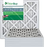 FilterBuy 14x14x1 MERV 13 Pleated AC Furnace Air Filter, (Pack of 6 Filters), 14x14x1 – Platinum