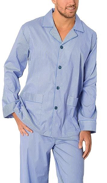 El Búho Nocturno Especial Tallas Grandes, Pijama de Caballero Largo clásico a Rayas y Cachemir