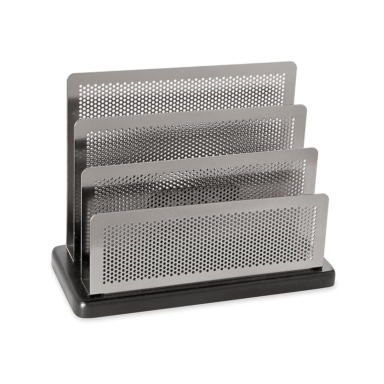 Rolodex Sorter, Distinctions Mini Sorter 3-Compartments 7-1/2w x 3-1/2d x 5-3/4h, 1 Unit, Black + Gunmetal (E23572) Newell Rubbermaid Office
