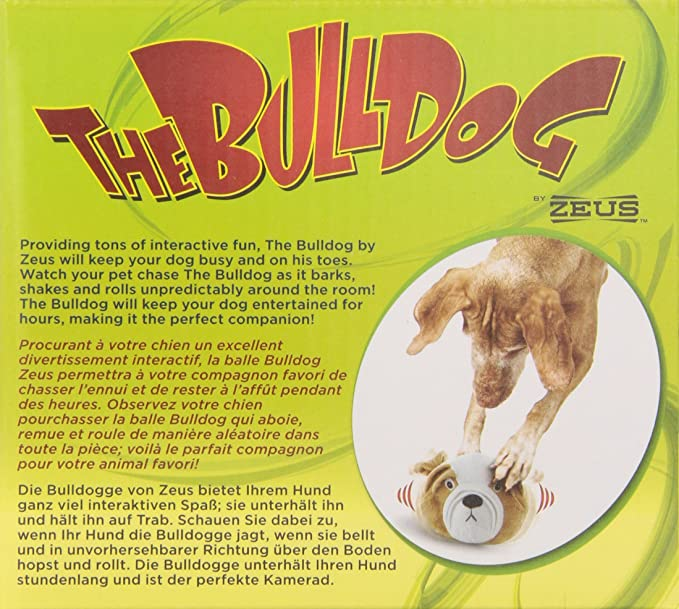 Amazon.com: Zeus Bulldog Motorized Bouncing Juguete: Mascotas