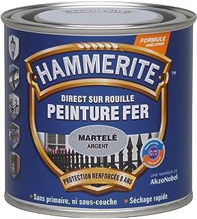 Hammerite Peinture Martelée Directement sur la rouille Couleur rouge ...