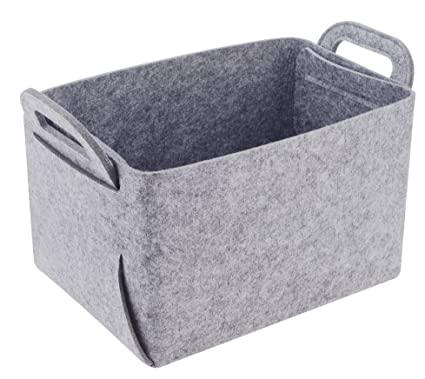 Amazon.com: Storage Basket Felt Storage Bin Collapsible & Convenient ...