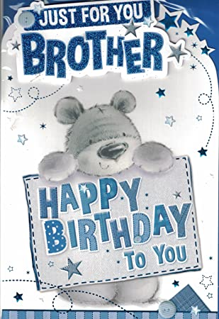 Brother Birthday Card To A Special Brother Happy Birthday Cute