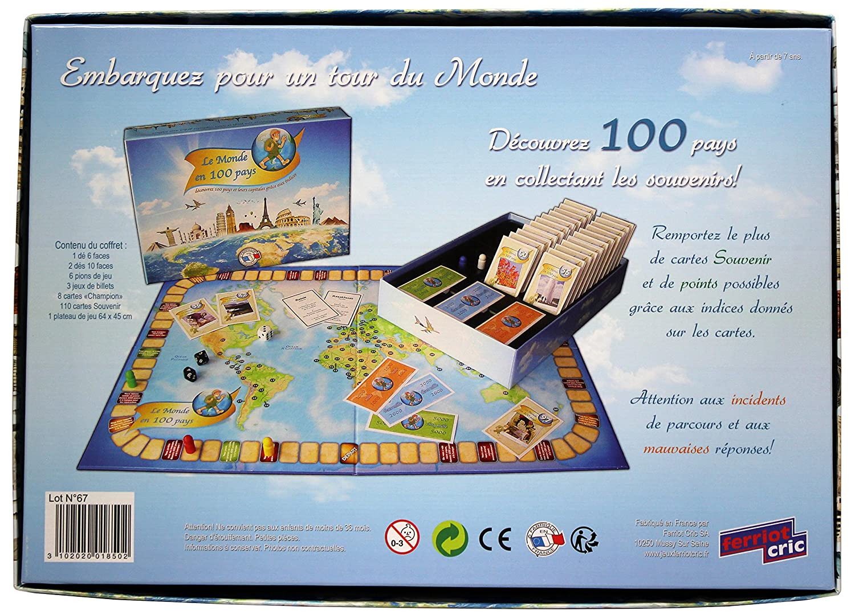 Ferriot Cric 1850 Le Monde En 100 Pays Bleu Amazon Fr Jeux