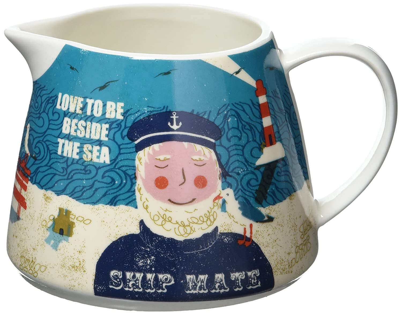 Porcelain Assorted Jill White Ahoy Small Jug 12 x 9 x 8 cm