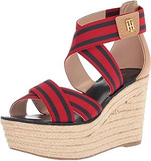 dec34605f Amazon.com  Tommy Hilfiger Women s Mili Wedge Sandal  Shoes