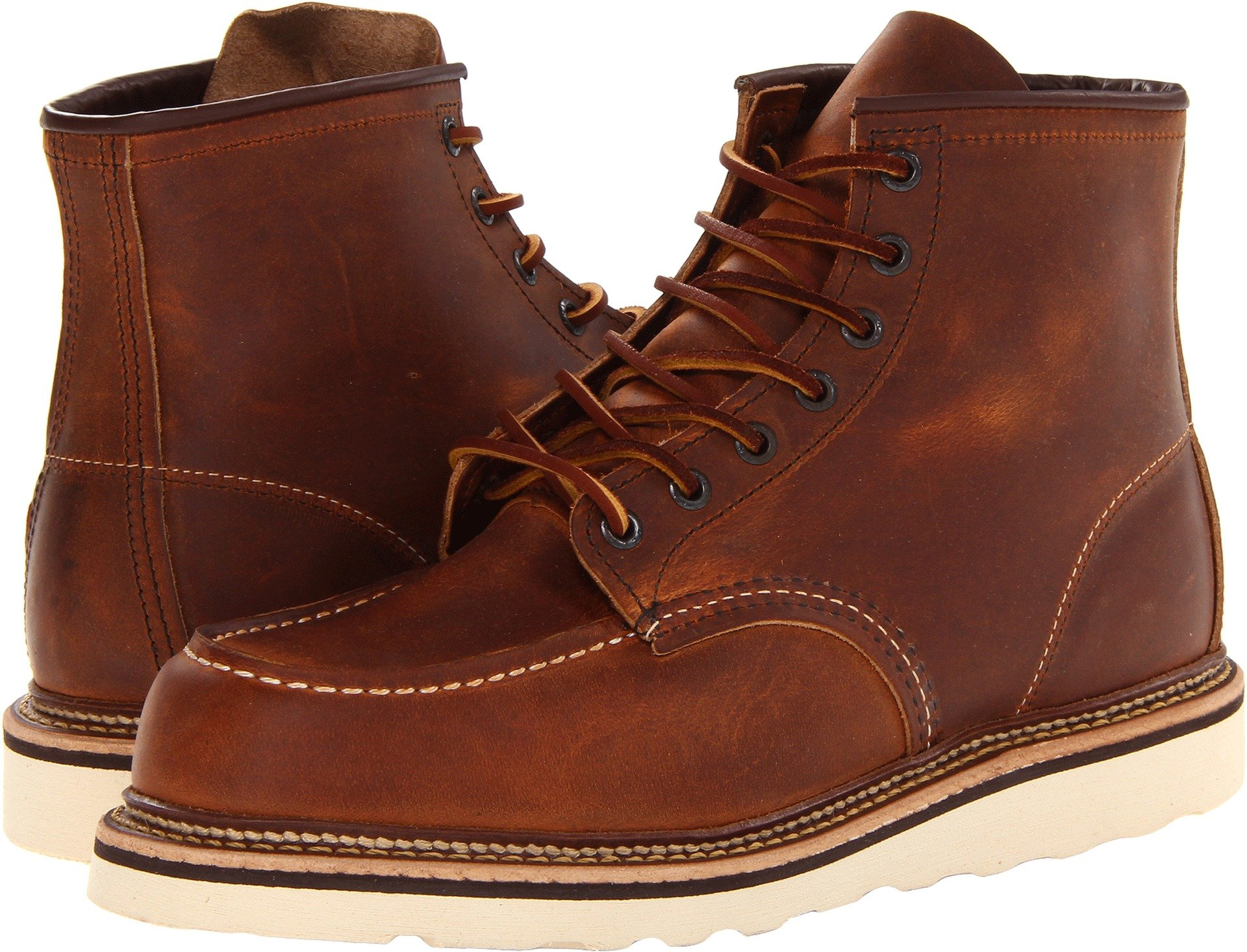 Red Wing Heritage Men's 6'' Moc Toe Copper Rough & Tough 12 W US