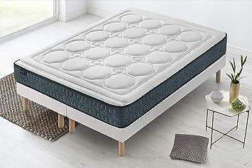 BOBOCHIC PARIS® - Colchón Tendresse - 90x190x22 cm -Viscoelástico: Amazon.es: Hogar