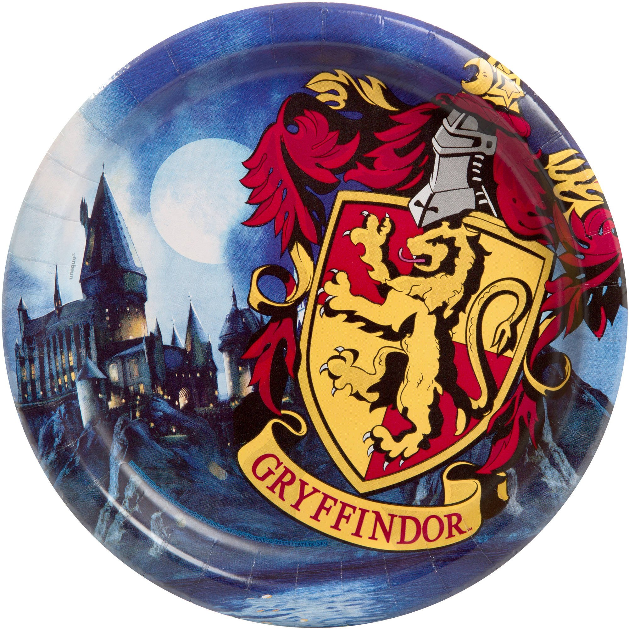 Harry Potter Paper Party Plates Gryffindor, 24ct